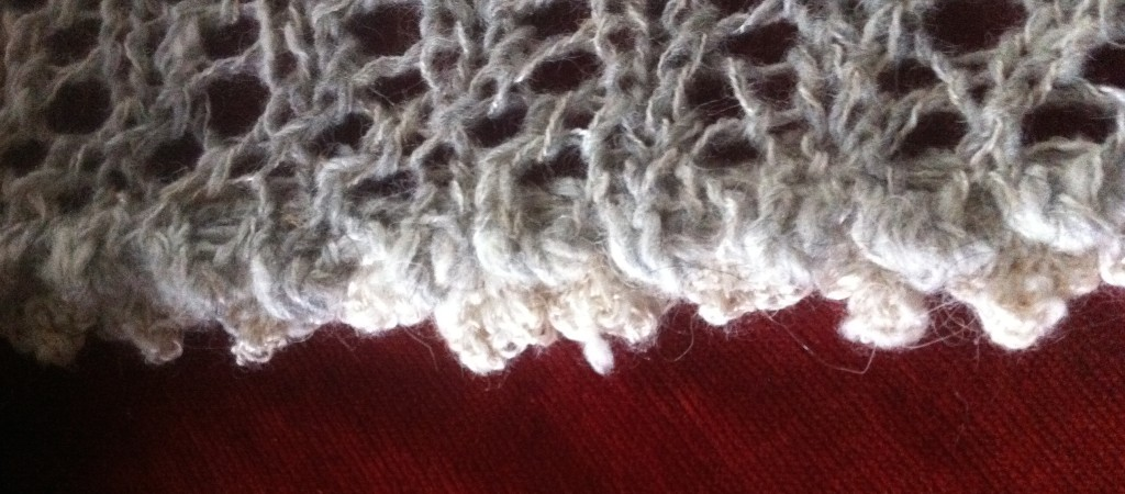 Crochet edge. Scandinavian Knit