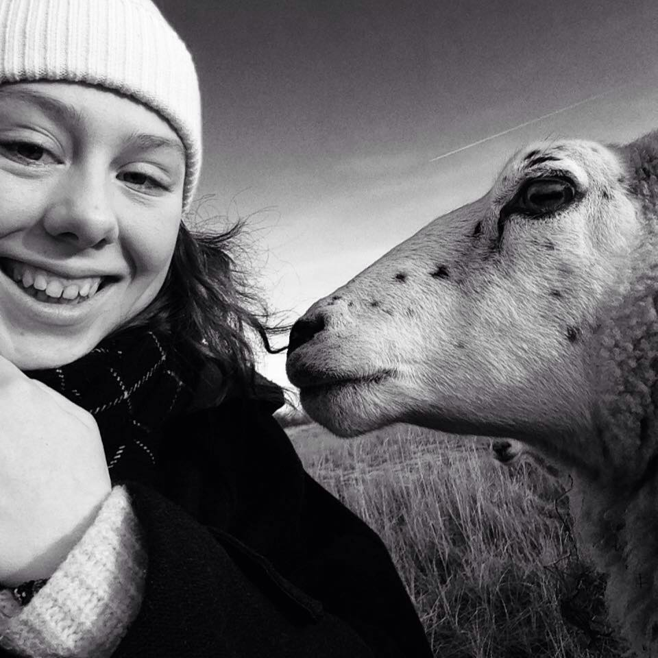 Karla and a Sheep in Copenhagen