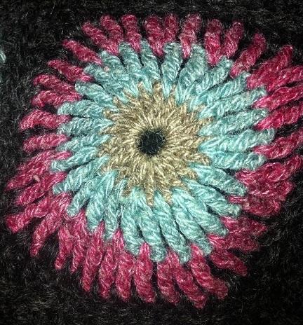 Special squares. Scandinavian knit