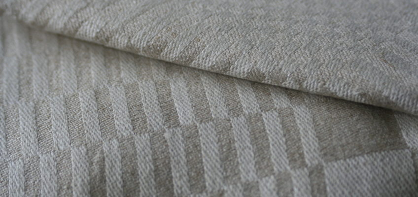 Vintage linen damask tablecloth