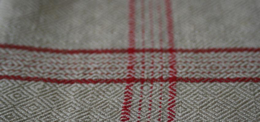 Detail from vintage linen tea towel