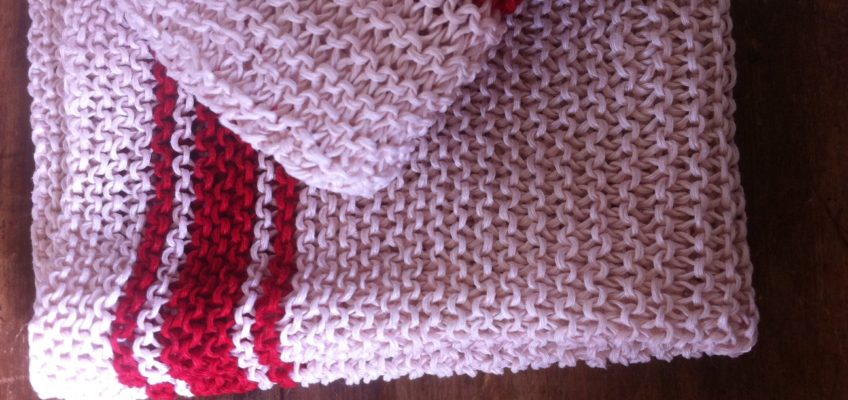 knitted tea towels