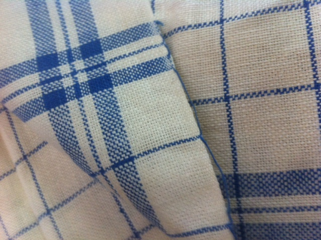Fine handmade linen tea towel for glass.