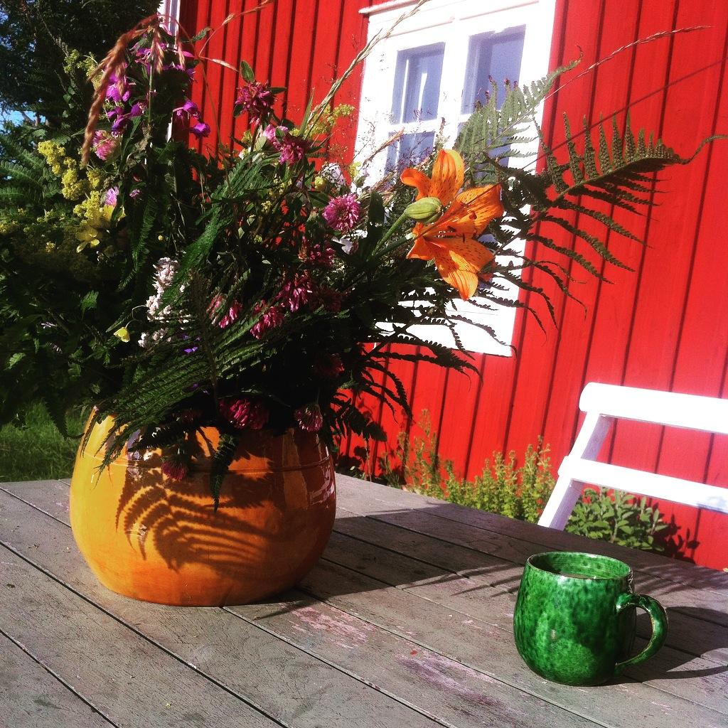 Summer in Sweden. Scandinavian Knit